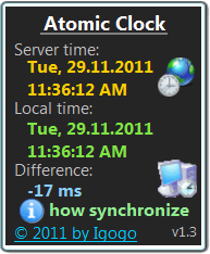Synchronizes your computer's internal clock