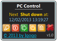 PC Control Screen shot