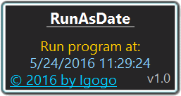 RunAsDate Screen shot