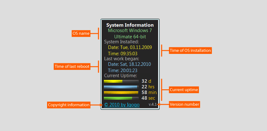 System Uptime Full Plus screenshot